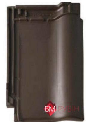 Рубін 9v коричневий ангоба, плитка